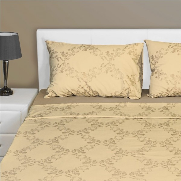 Μαξιλαροθήκες Ζεύγος 52x72 Fennel PC2-S-PDM-BG Damask Beige Fennel - 1