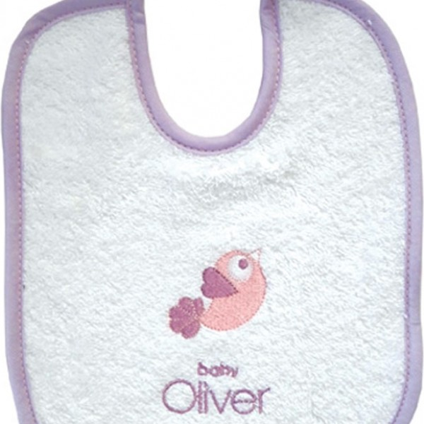 Σαλιάρα Baby Oliver Dream Birds Lilac 300