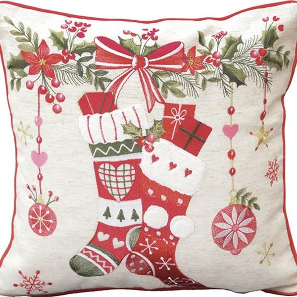 Χριστουγεννιάτικη Διακοσμητική Μαξιλαροθήκη (45x45) Ilis Home 17482 Ilis Home - 1