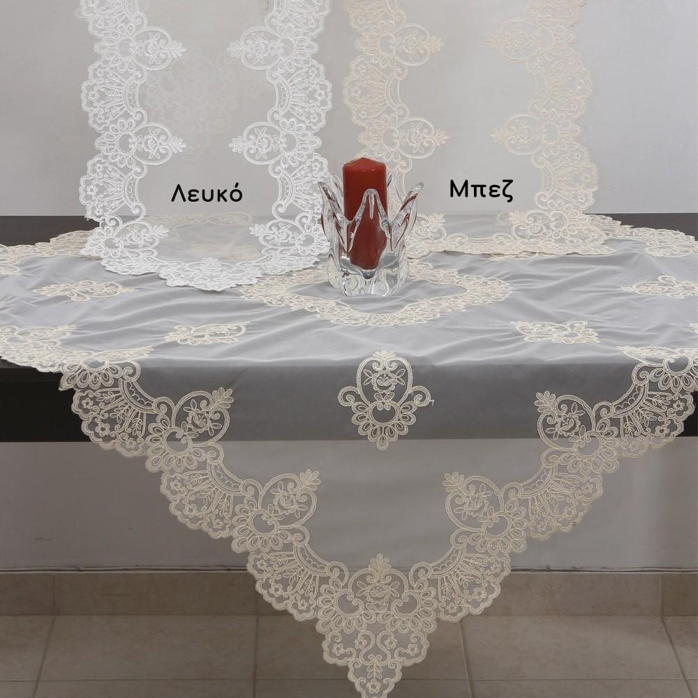 Σετ Δαντελένιο (5 Τμχ) Ilis Home 39620 Λευκό Ilis Home - 1