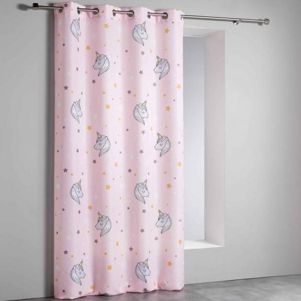 Κουρτίνα Με Τρουκς 140x260 Χαμηλής Σκίασης Lilirose Pink