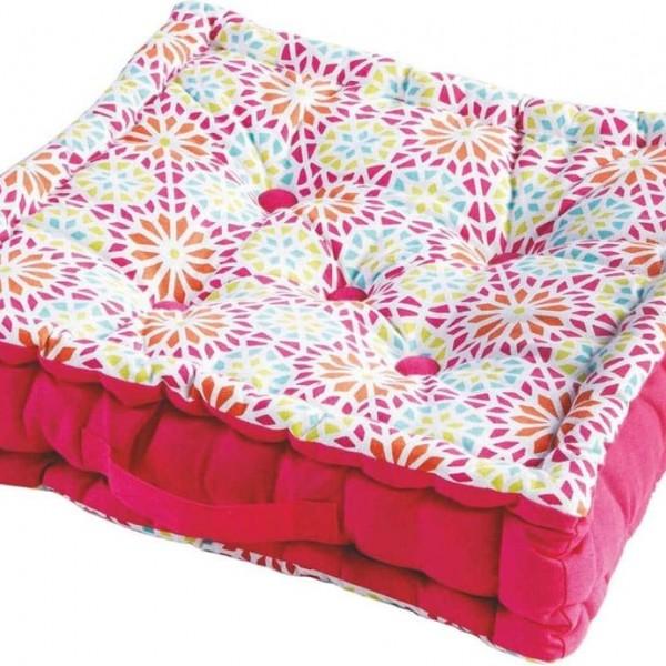 Μαξιλάρι Δαπέδου (45x45+10) Kaleida Pink Flamingo - 1