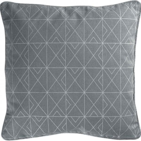 Μαξιλάρι Διακοσμητικό (40x40) Quadris Grey-Silver