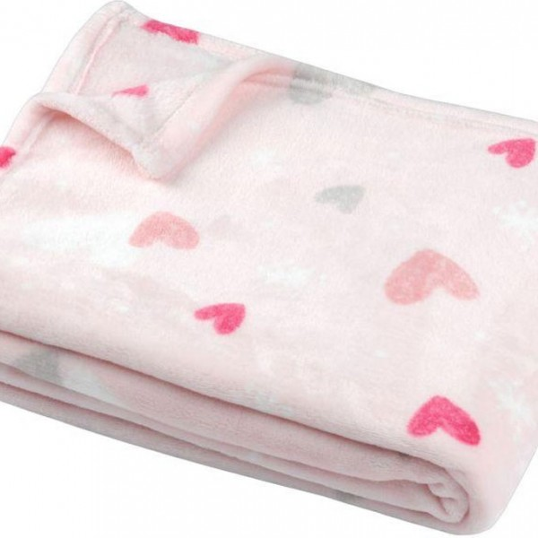 Κουβέρτα Παιδική 130x160 Flannel Unicorn Dream Flamingo - 1