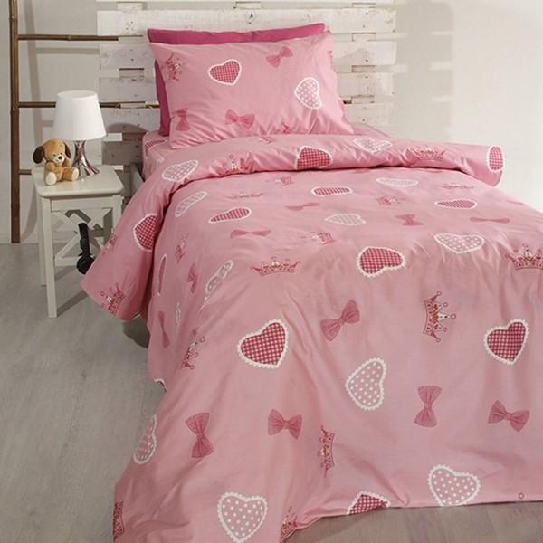Κουβερλί Παιδικό Σετ 155x255 Cotton Feelings 12 Pink