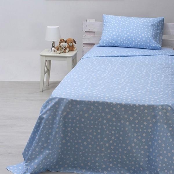 Κουβερλί Παιδικό Σετ 155x255 Cotton Feelings 22 Blue Sunshine - 1