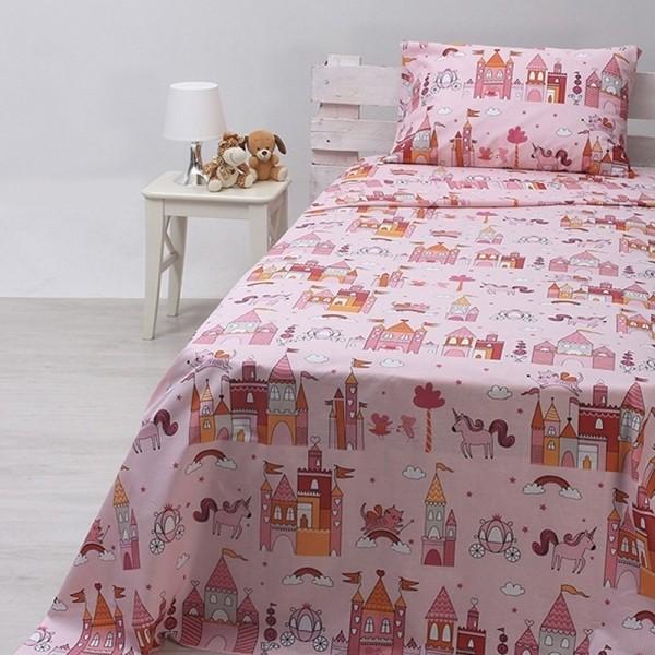 Κουβερλί Παιδικό Σετ 155x255 Cotton Feelings 18 Pink Sunshine - 1