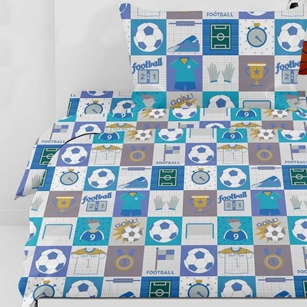 Κουβερλί Παιδικό Σετ 155x255 Cotton Feelings 10 Blue Sunshine - 1