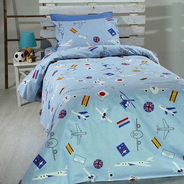Κουβερλί Παιδικό Σετ 155x255 Cotton Feelings 08 Sunshine - 1