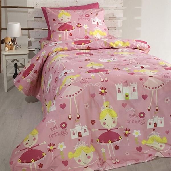 Κουβερλί Παιδικό Σετ 155x255 Cotton Feelings 14 Pink Sunshine - 1