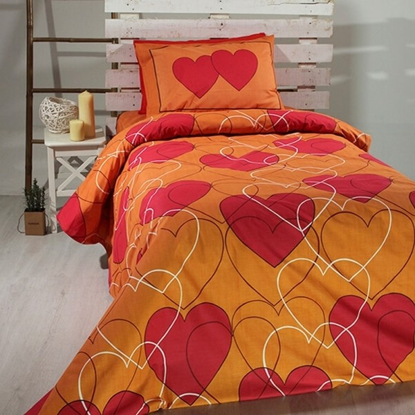 Πάπλωμα Παιδικό Σετ 155x255 Cotton Feelings 910 Orange