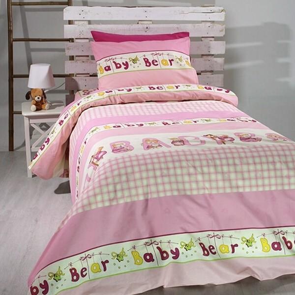 Κουβερλί Παιδικό Σετ 155x255 Cotton Feelings 8481 Pink