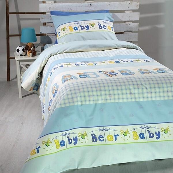 Κουβερλί Παιδικό Σετ 155x255 Cotton Feelings 8481 Blue