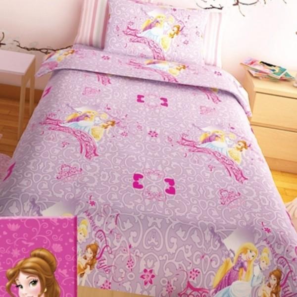 Παπλωματοθήκη Παιδική Σετ 150x255 Disney Princess Lilac Disney - 1