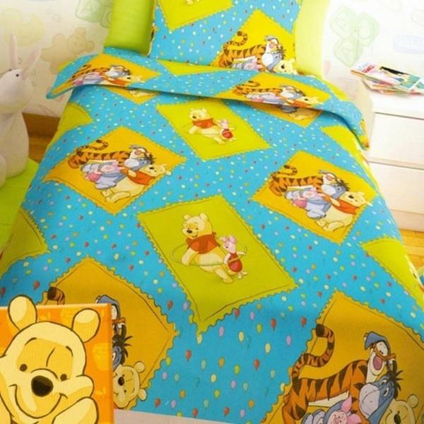 Παπλωματοθήκη Παιδική Σετ 150x255 Disney Winnie Turquoise Disney - 1