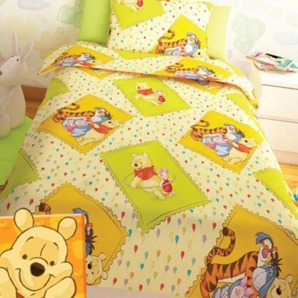 Κουβερλί Παιδικό Σετ 150x255 Disney Winnie Yellow