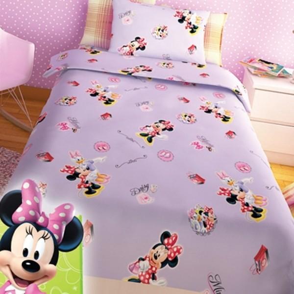 Παπλωματοθήκη Παιδική Σετ 150x255 Disney Minnie Lilac Disney - 1