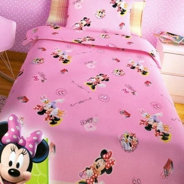 Παπλωματοθήκη Παιδική Σετ 150x255 Disney Minnie Pink