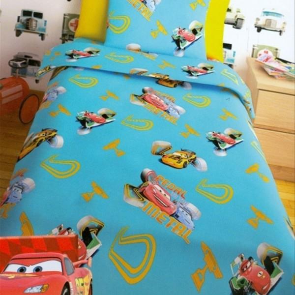 Παπλωματοθήκη Παιδική Σετ 150x255 Disney Cars Turquoise
