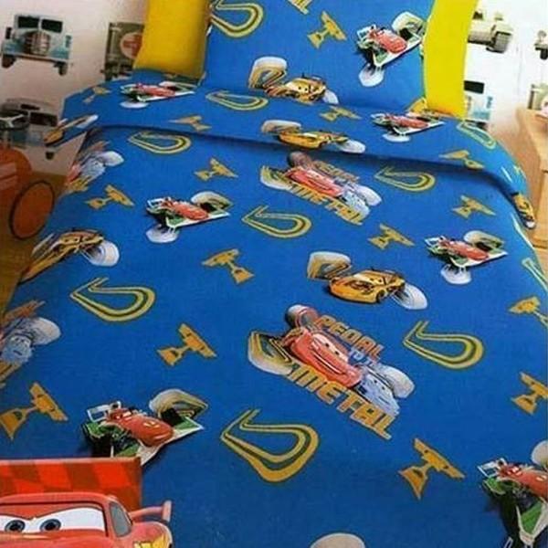 Παπλωματοθήκη Παιδική Σετ 150x255 Disney Cars Blue Disney - 1