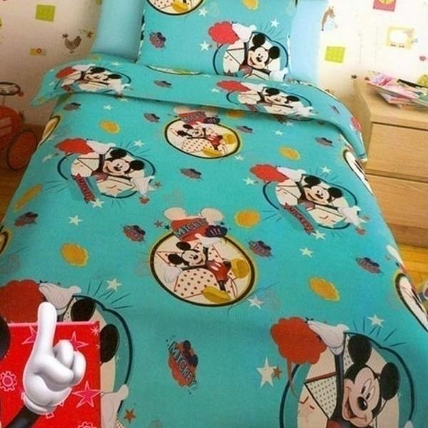 Κουβερλί Παιδικό Σετ 150x255 Disney Mickey Turquoise Disney - 1
