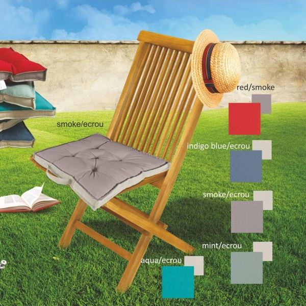 Μαξιλάρι Καρέκλας Μονόχρωμο 40x40x5 Oxford Home Textile - 1
