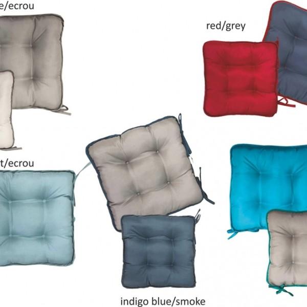 Μαξιλάρι Καρέκλας Δίχρωμο 40x40x5 Wick Home Textile - 1