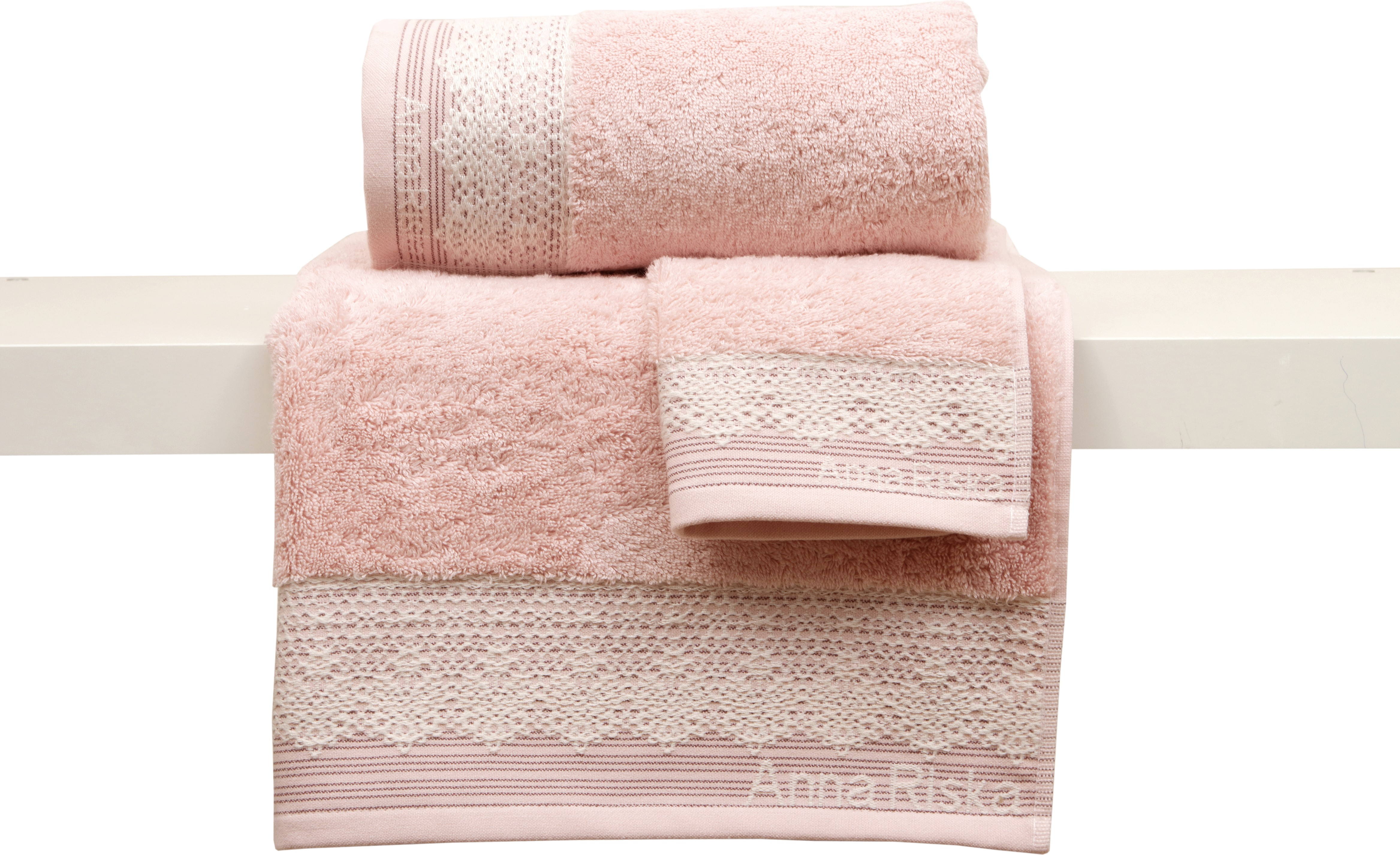 Anna Riska Σετ 3 Πετσέτες 30x50 Συσκευασία Κορδέλα Karla 1 Blush Pink