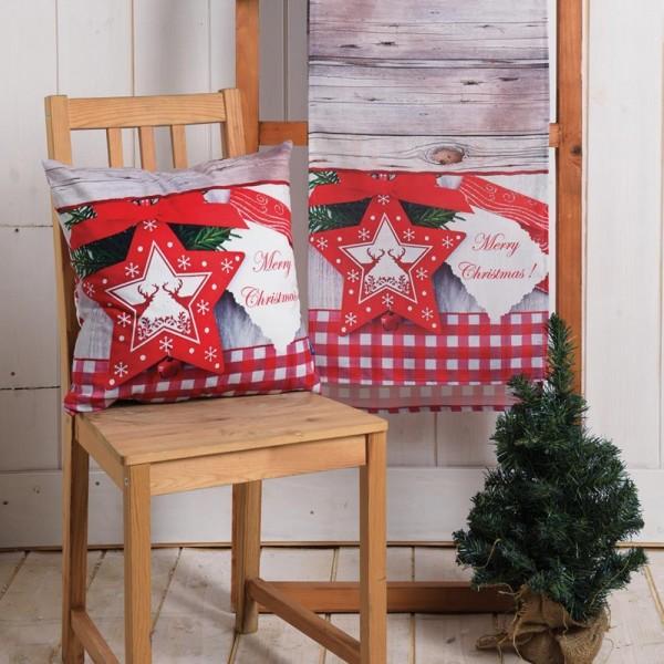 Μαξιλαροθήκη Χριστουγεννιάτικη (45x45) Digital Print Kedima X470-645