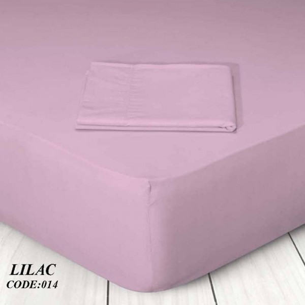 Κατωσέντονο Με Λάστιχο Μονόχρωμο Μονό 100x200+25 014 Lilac