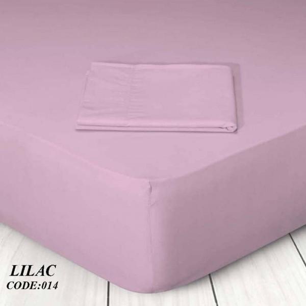 Κατωσέντονο Με Λάστιχο Μονόχρωμο King Size 180x200+25 014 Lilac Marwa - 1