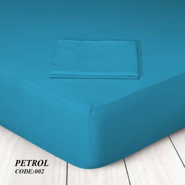 Μαξιλαροθήκες Ζεύγος Μονόχρωμες 50x70 002 Petrol Marwa - 1
