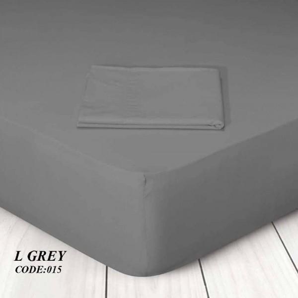 Κατωσέντονο Με Λάστιχο Μονόχρωμο Μονό 100x200+25 015 L Grey Marwa - 1