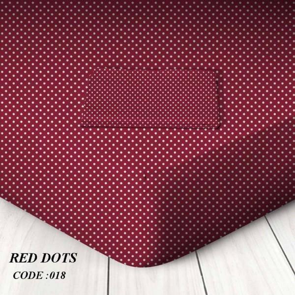 Κατωσέντονο Με Λάστιχο King Size 180x200+25 Red Dots Marwa - 1