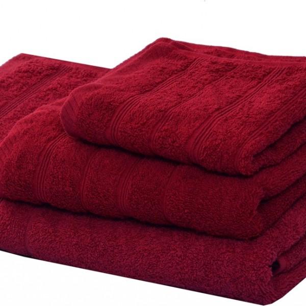 Πετσέτα Προσώπου Μονόχρωμη 50x90 Μπορντώ Marwa - 1
