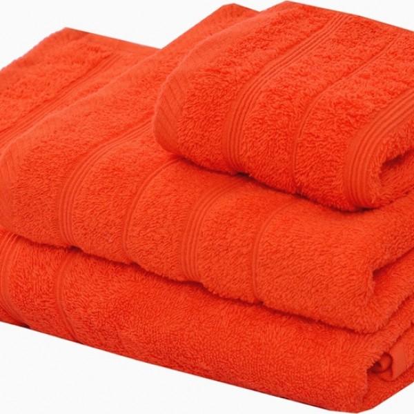 Πετσέτα Προσώπου Μονόχρωμη 50x90 Πορτοκαλί Marwa - 1