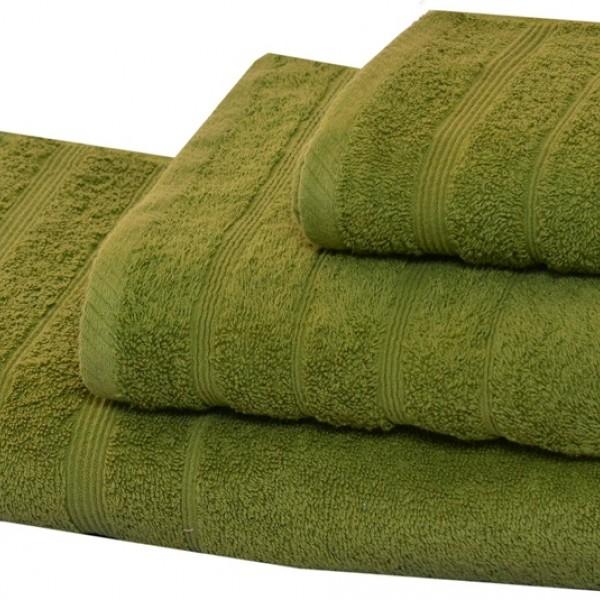 Πετσέτα Προσώπου Μονόχρωμη 50x90 Πράσινο