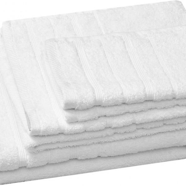 Πετσέτα Προσώπου Μονόχρωμη 50x90 Λευκό Marwa - 1