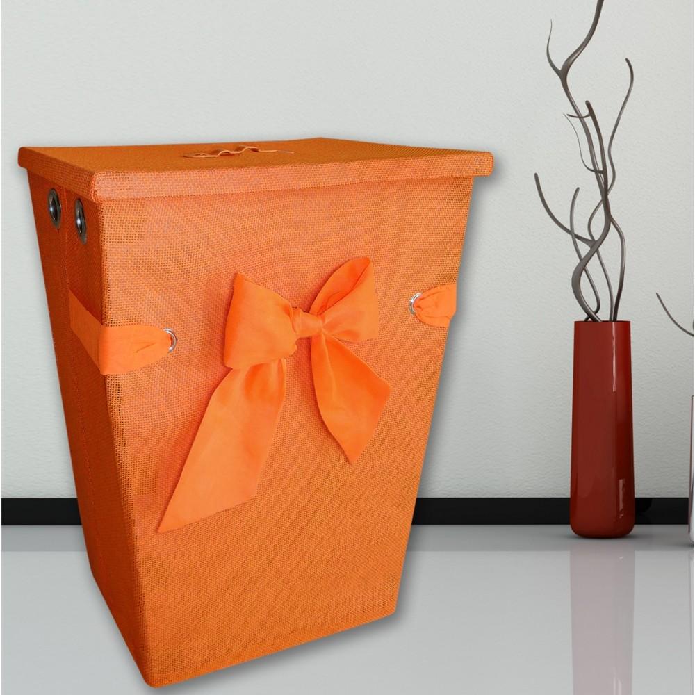 Καλάθι Απλύτων 45x35x60 San Lorentzo Grace With Bow Πορτοκαλί San Lorentzo - 1