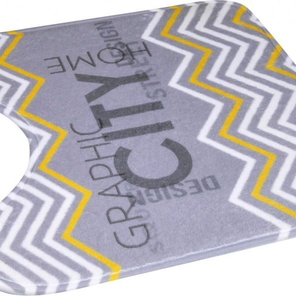 Πατάκι Λεκάνης 45x45 Geometric
