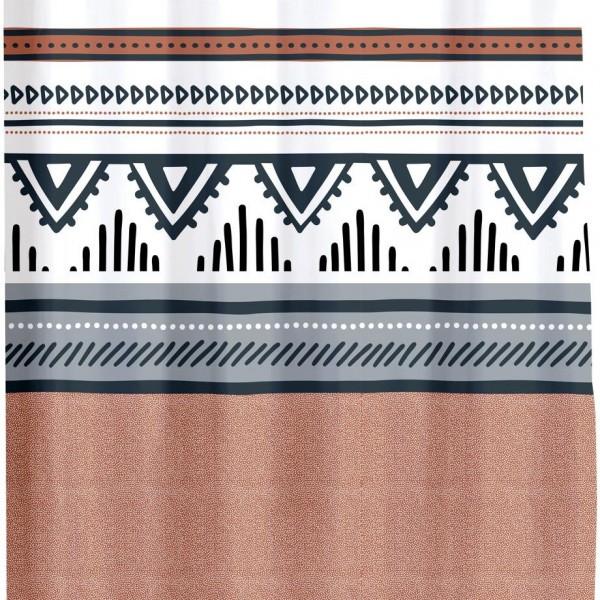 Κουρτίνα Μπάνιου Υφασμάτινη 180x200 Ethnic Folk Flamingo - 1