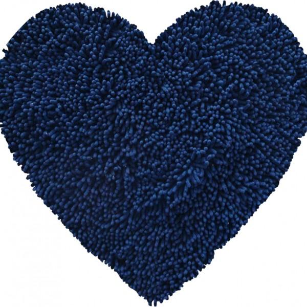 Πατάκι Μπάνιου 75x80 San Lorentzo Heart Chenille Μπλε San Lorentzo - 1