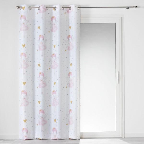Κουρτίνα Με Τρουκς Μέτριας Σκίασης 140x260 Rosaline Flamingo - 1