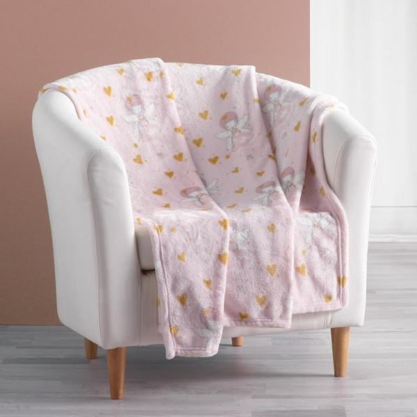 Ριχτάρι-Κουβέρτα Παιδική 125x150 Rosaline Flamingo - 1