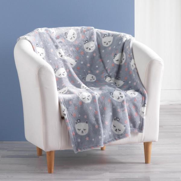 Ριχτάρι-Κουβέρτα Παιδική 125x150 Rosaline Mimi Chat Flamingo - 1