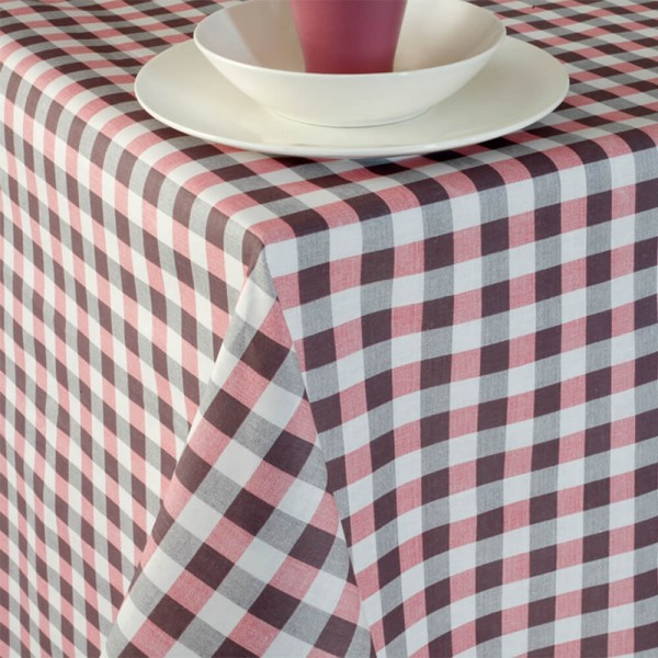 Τραπεζομάντηλο 140x140 Melinen Picnic Grey-Rose Melinen - 1