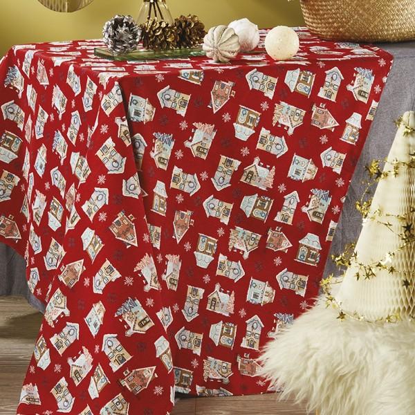 Χριστουγεννιάτικο Τραπεζομάντηλο Λονέτα 140x220 White Egg LON4 White Egg - 1