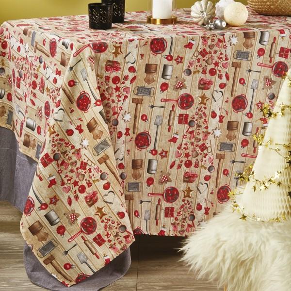 Χριστουγεννιάτικο Τραπεζομάντηλο Λονέτα 140x220 White Egg LON5 White Egg - 1