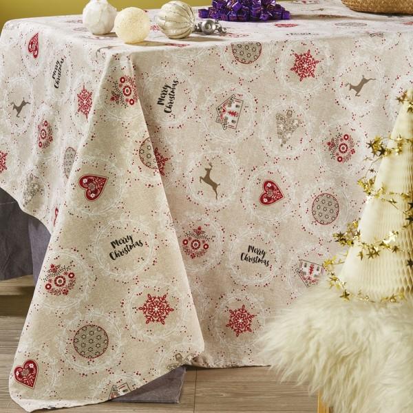 Χριστουγεννιάτικο Τραπεζομάντηλο Λονέτα 140x220 White Egg LON6 White Egg - 1