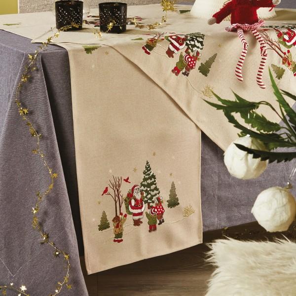 Χριστουγεννιάτικη Τραβέρσα 40x180 White Egg 17500-2 White Egg - 1